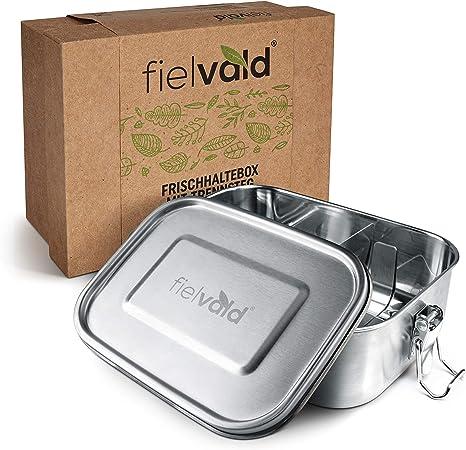 Brotdose Auslaufsicher Schulkinder Brotbox Lunchbox mit Fächern Edelstahl 800ml