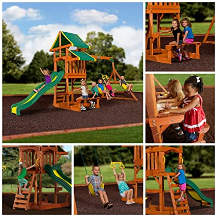 Playground Children Play Swing Set Backyard Kids Climb Slide Activities By  Skroutz