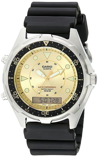 2331739ec85a Casio Hombre amw320d-9ev Ana-Digi Reloj de Buceo de Alarma y cronógrafo   Casio  Amazon.es  Relojes