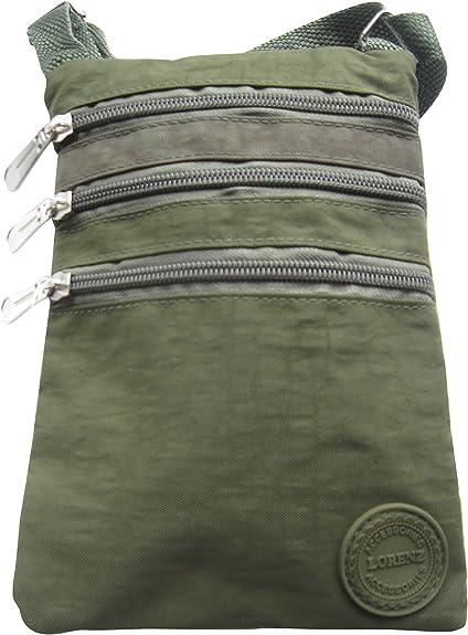Petit sac bandouli/ère organiseur en nylon froiss/é