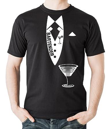 Milky Way Tshirts Camarero Camiseta Camarero Camisa de los Hombres Small Negro: Amazon.es: Ropa y accesorios