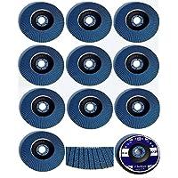 10 stuks lamellenschijven, Ø 115 mm, korrel 120, blauw/INOX lamellen/schuurschijven/lamellenslijpschijf