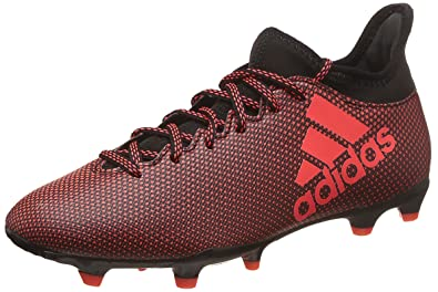 0a2aa8d51 Amazon.com: adidas X 17.3 Firm Ground Mens Soccer Boot Black/Red ...