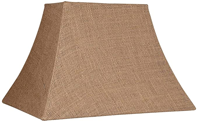 Amazon.com: Natural Burlap rectángulo lámpara de techo, 5/8 ...