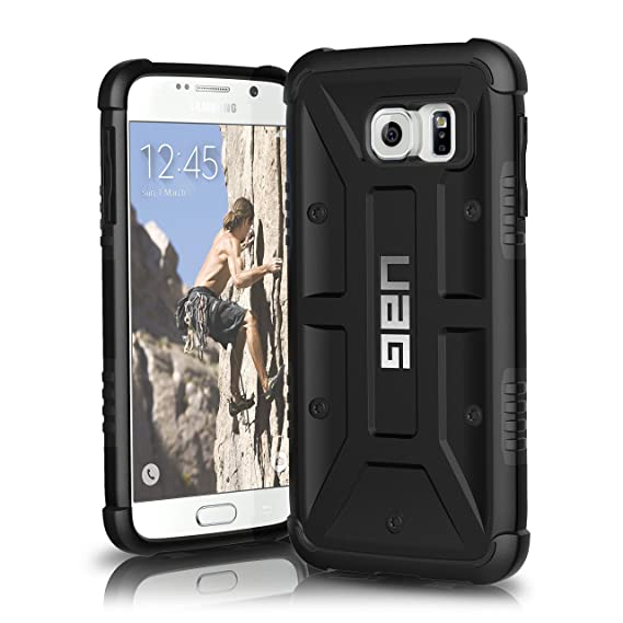 URBAN ARMOR GEAR [UAG] Samsung Galaxy S6 [5.1-inch Screen] Feather-Light Composite [Black] Military Drop Tested Phone Case