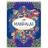 Libros Mandalas Colorear Adultos por Colorya, Papel Calidad Premium, Sin Manchas, Impresión A Una Cara, Libro Tamaño A4…