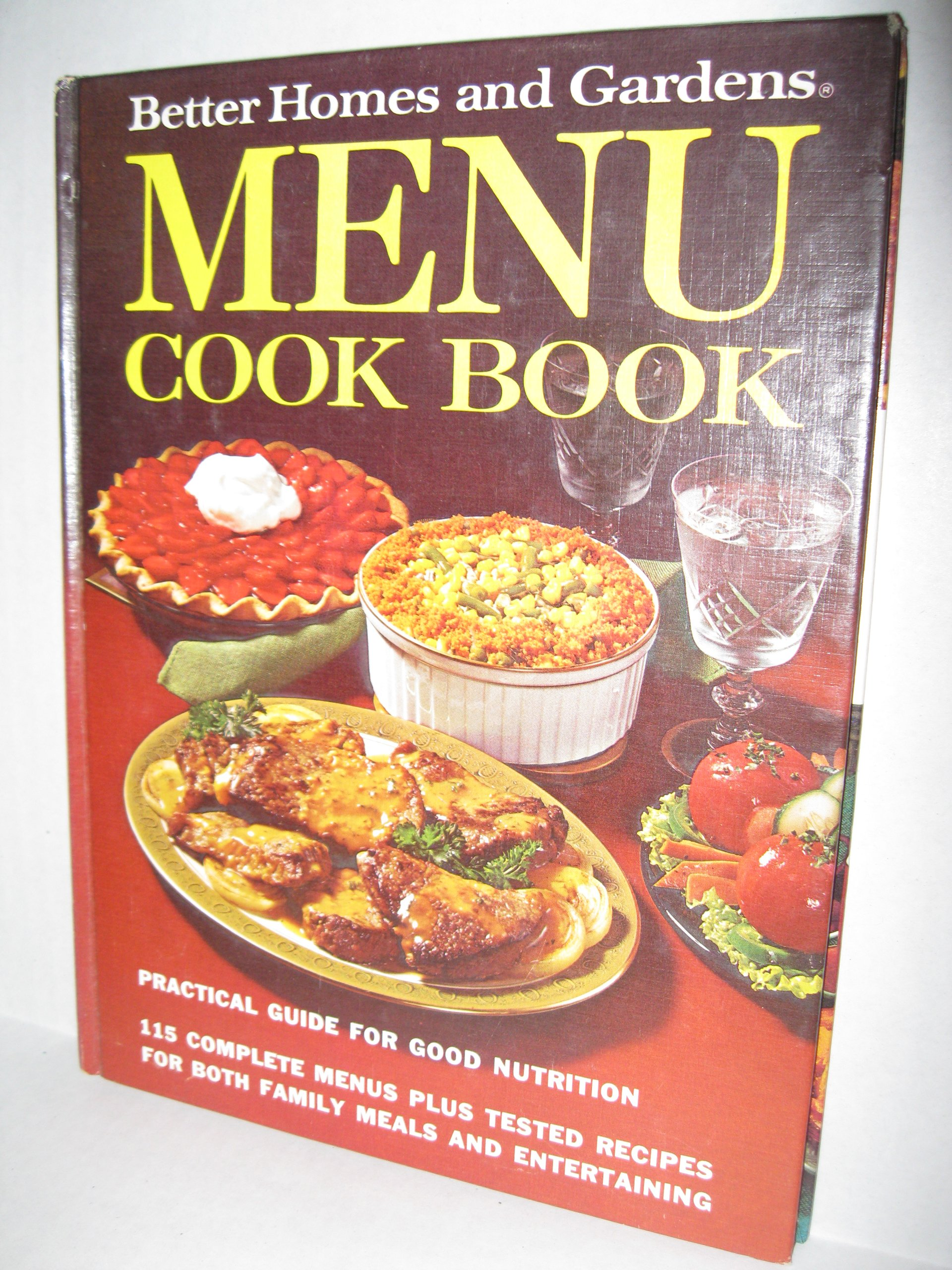 Better Homes and Gardens Menu Cook Book Hardcover – 1972