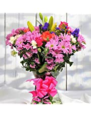 Homeland Florists Value Mixed Fresh Flowers Delivered, Stunning Floral Bouquet, Next Day UK Delivery, Beautiful Birthday Present or Thank You Gift