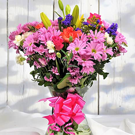 Fresh Flowers Delivered Stunning Floral Bouquet Next Day UK Delivery Beautiful Birthday Present Or Thank You Gift Amazoncouk Garden Outdoors
