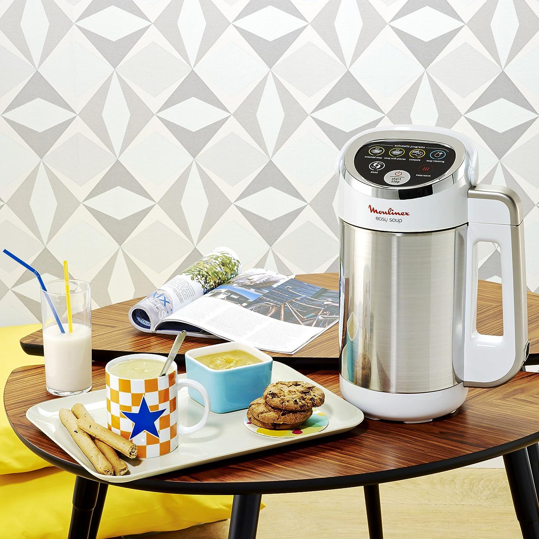 Moulinex LM841110 Máquina para hacer sopa, 980 W, 1.2 L, color plateado: Amazon.es: Hogar