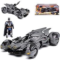 alles-meine GmbH Batmobile und Batman Justice League mit Figur 1/24 Jada Modell Auto