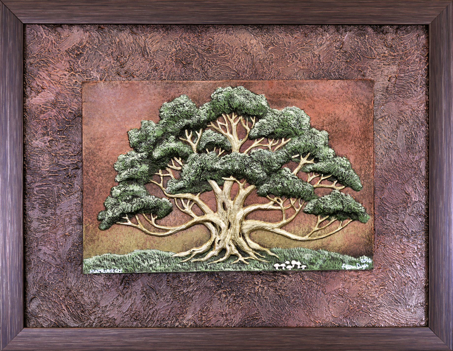 Matriarch - Cast Paper - spreading oak - mother's day - grandmother gift - wall art - nature - tree - landscape