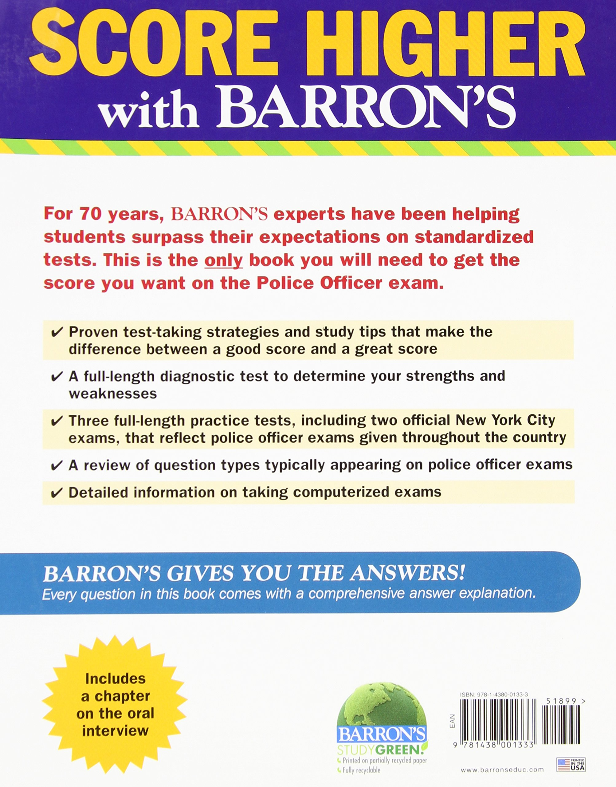 barron s police officer exam th edition donald schroeder frank barron s police officer exam 9th edition donald schroeder frank lombardo 9781438001333 books ca