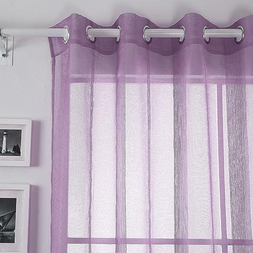 Reviewed: Deconovo Linen Drapes Grommet Window Sheer Curtains
