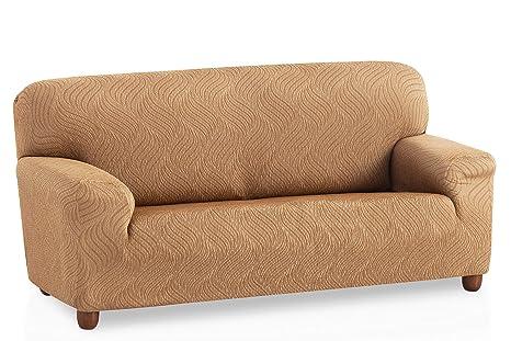 Bartali Funda de sofá elástica Aitana - Color Beige - Tamaño 3 plazas (de 160 a 210 cm)