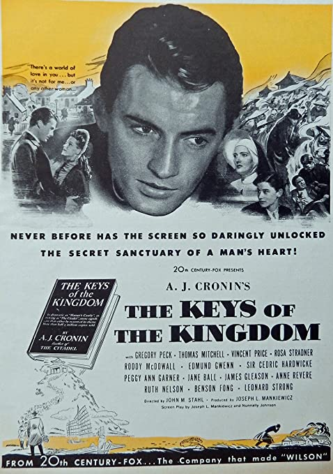 Amazon.com: The Keys Of The Kingdom, Original Movie Print Ad. Full Page  Color Illustration (Gregory Peck, Thomas Mitchell, Vincent Price, Roddy  McDowall) Original 1944 Vintage, Rare Woman's Day Magazine Art: Posters &