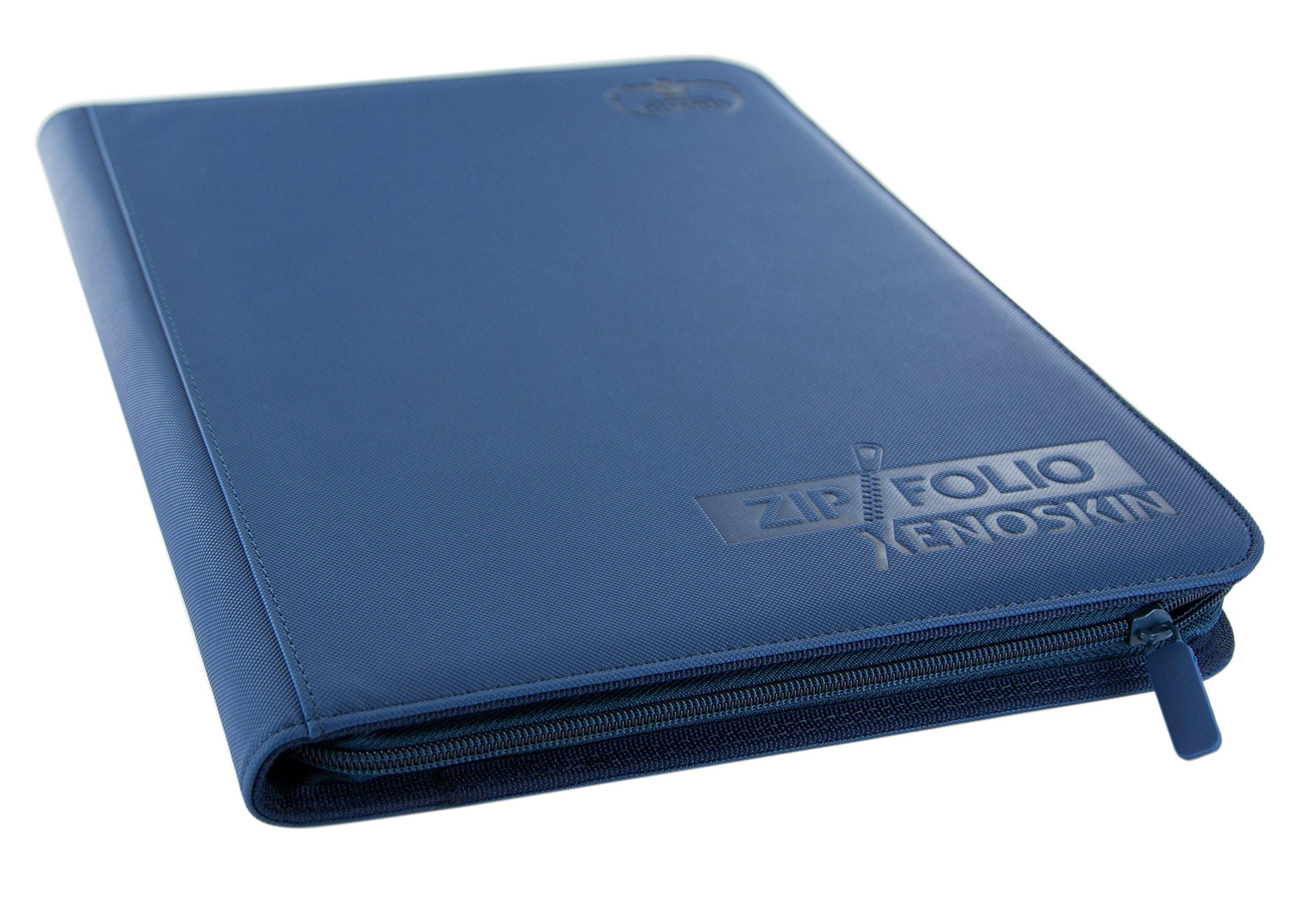 Ultimate Guard 9 Pocket XenoSkin Zipfolio, Blue