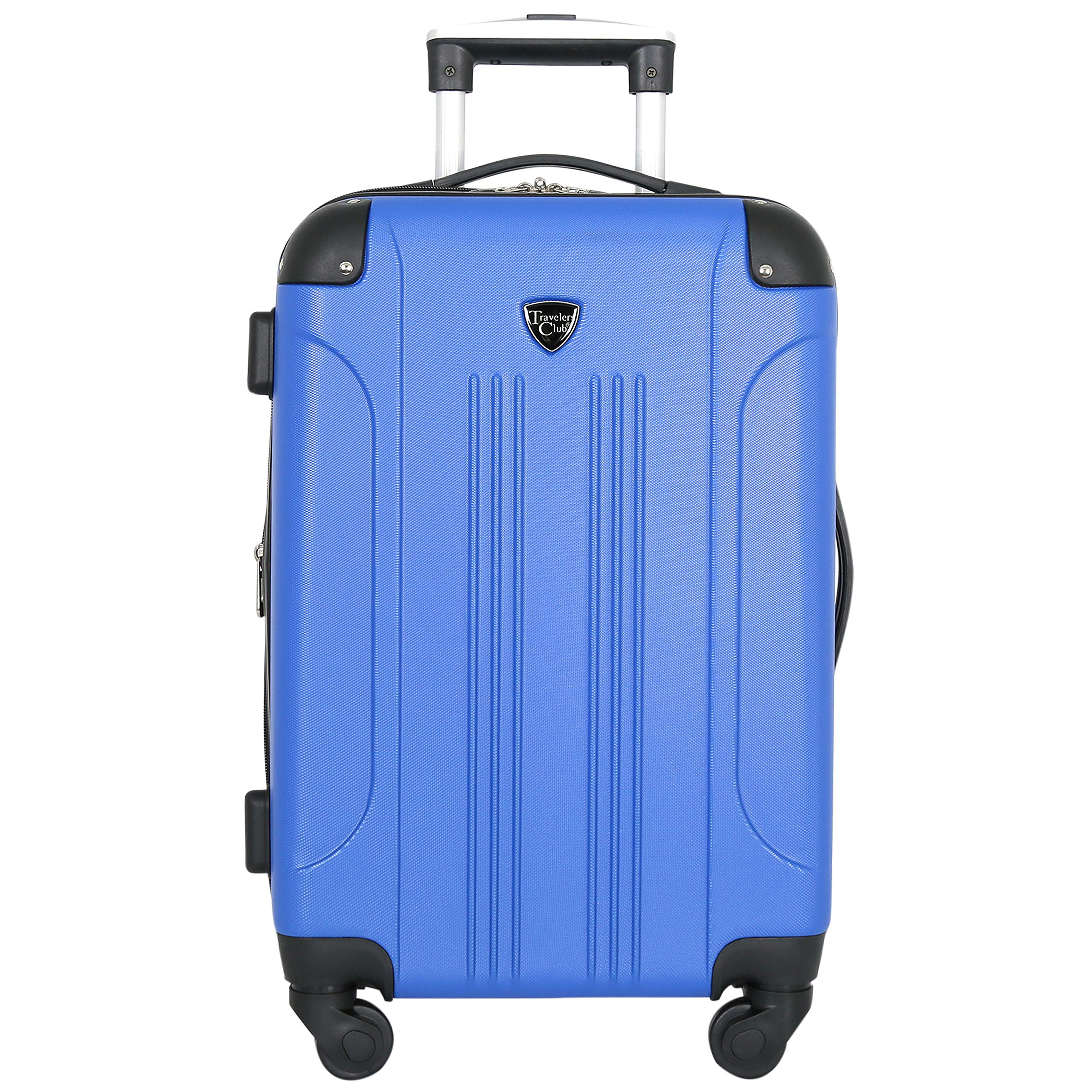 Travelers Club Luggage Chicago 20'' Hardside Expandable Carry-on Spinner, Cobalt Blue
