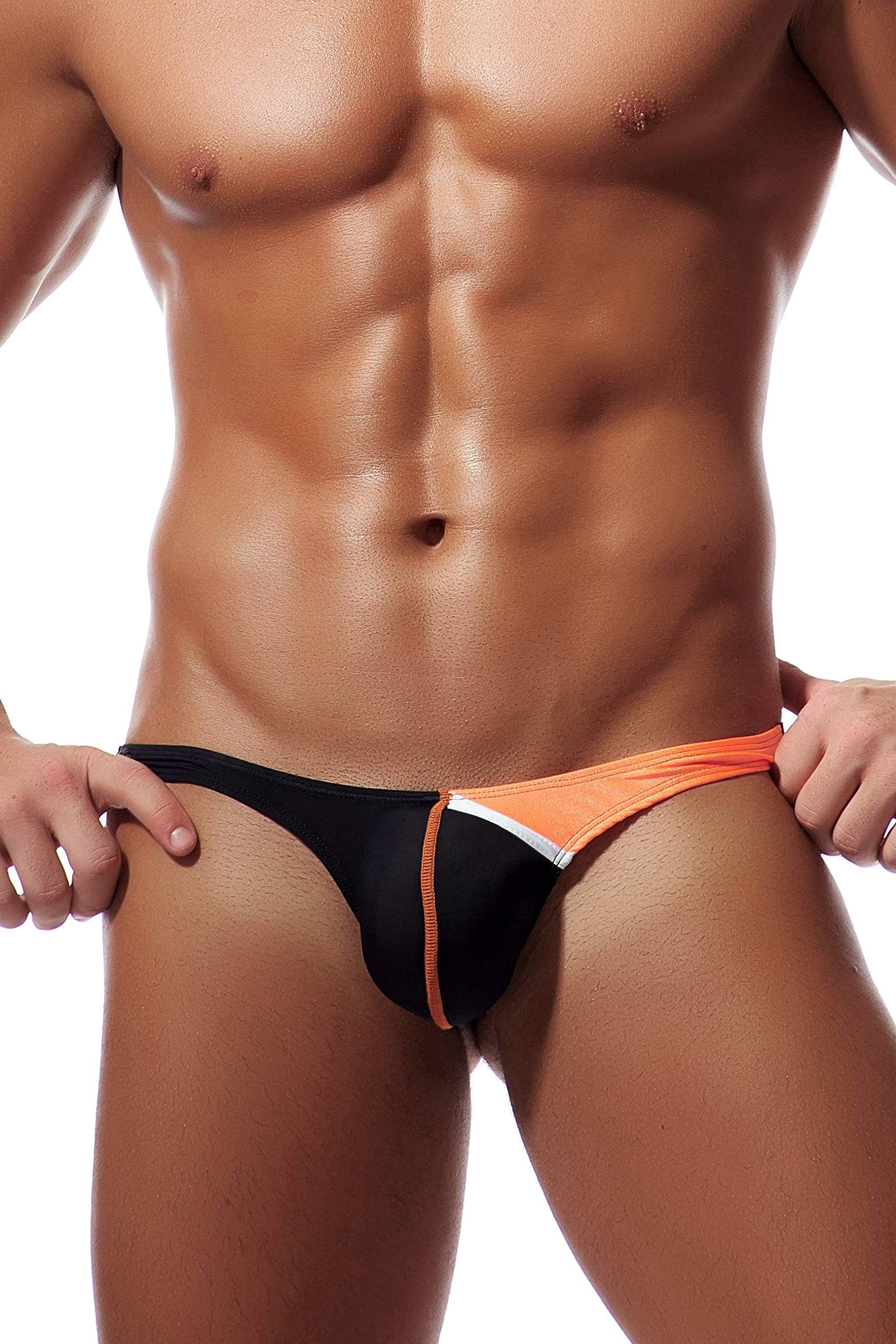 TESOON Mens Low Rise Ice Silk Bikini Briefs Underwear