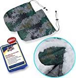 SnowOFF Camouflage Car Side Mirror Snow Covers Set – Protect Auto Exterior Rear View Mirrors from Snow Ice Frost – BONUS Cloth – Automotive Door Armor - Fit Cars, CRVs some SUV - Like Windshield Cover