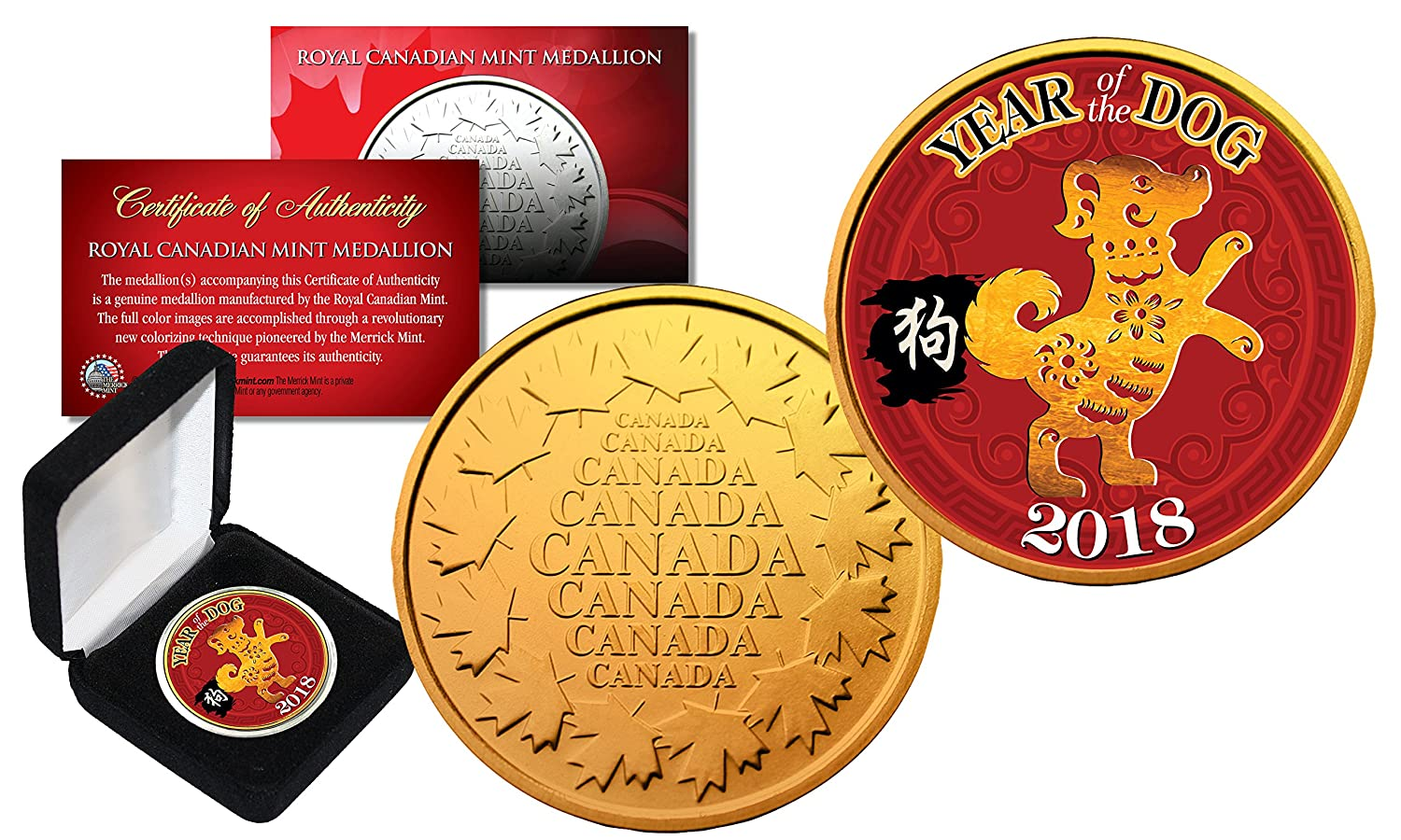 2018 Chinese New YEAR OF THE DOG Royal Canadian Mint RCM Medallion Coin  with Box