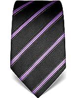 VB - Cravatta da uomo, in seta, fantasia a righe, vari colori disponibili