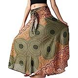 B BANGKOK PANTS Women's Long Maxi Skirt Hippie Bohemian Gypsy Dress Boho Clothing Party Dress Beach Wear Asymmetric Hem