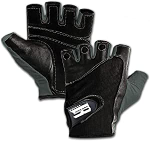 Premium Leather Workout Gloves for Women & Men - Padded Weight Lifting Gloves with Anti-Slip Design - Gym Gloves for Weightlifting, Kettlebell, Gym Training, Cycling, Rowing, & Biking