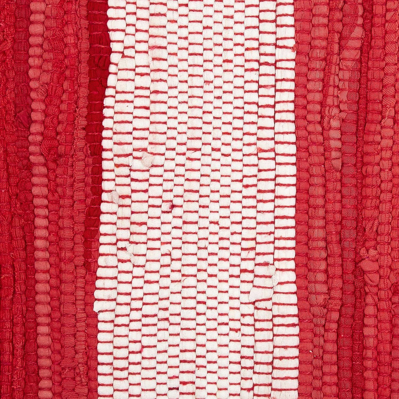 DII Red /& White Stripe Chindi Rug Multi