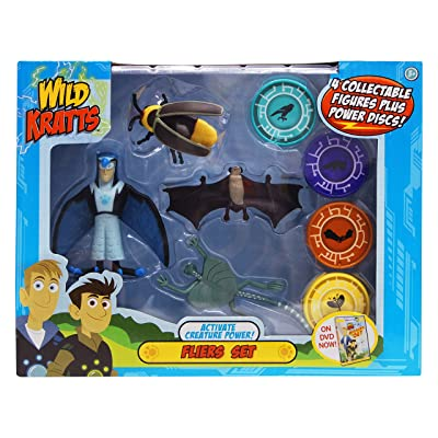 Wild Kratts - Activate Creature Power - 4-Pack Action Figure Set - Fliers: Toys & Games