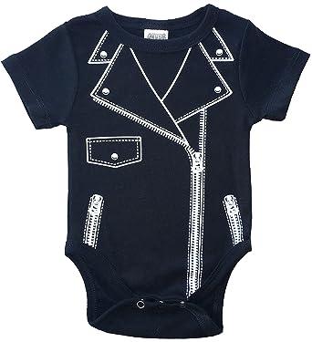 Chubs Moto Unisex Baby Bodysuit Baby Motorcycle Jacket Baby Biker