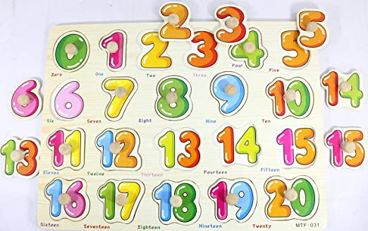 Buy Tootpado 0 20 Wooden Number Puzzle Board For Kids18M