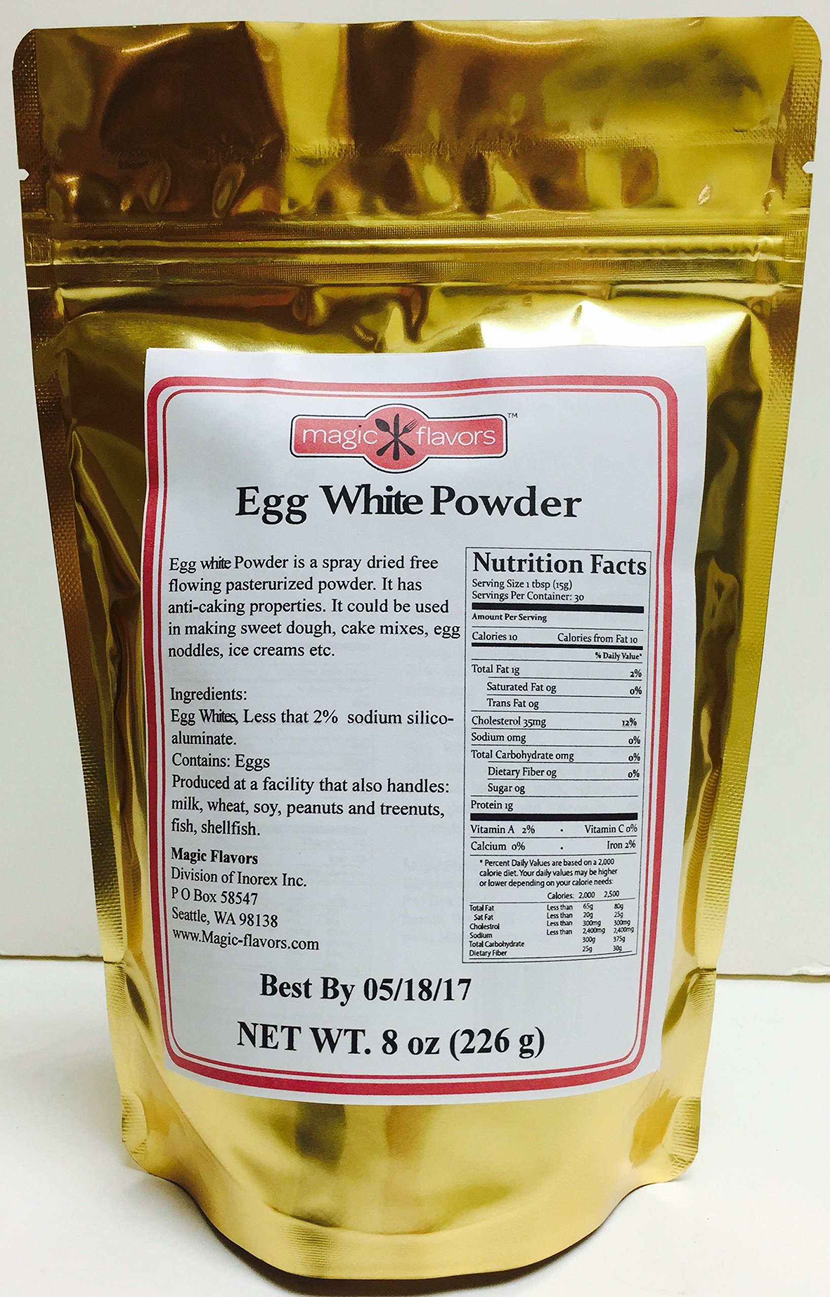 Magic Flavors Egg White Powder, 8 Oz Pouch