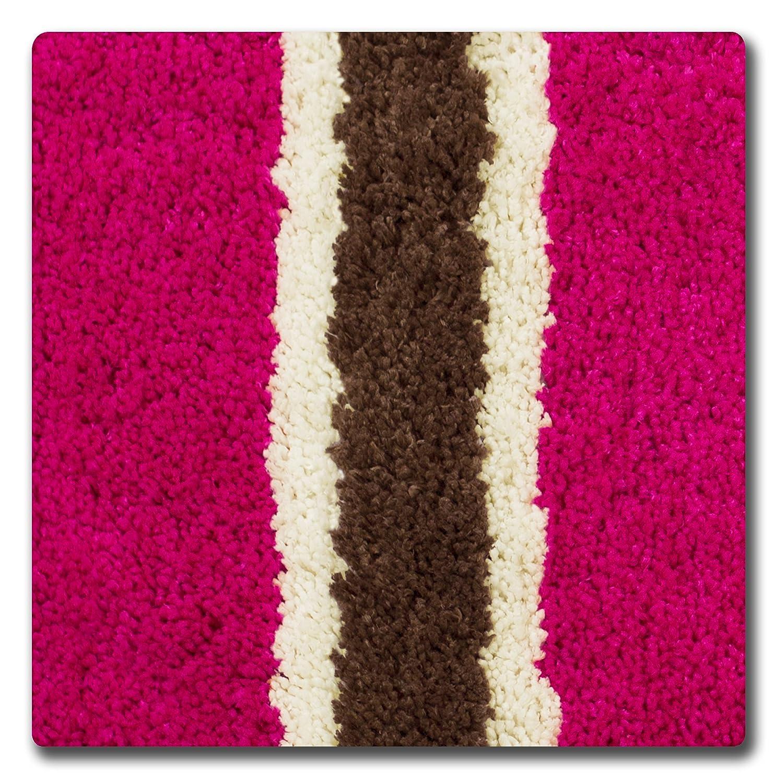 Bath Rug Lime Creative Home Ideas YMB002324 Bathtopia Ace Microfiber Stripe 16 x 24 in