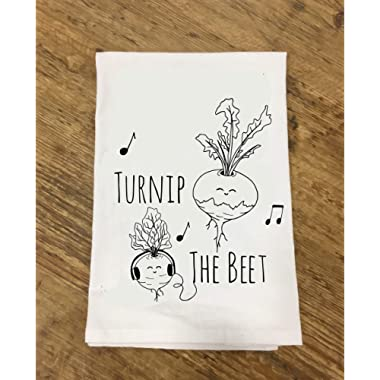 Funny Dishcloth/Tea Towel ~Turnip The Beet ~ Funny Kitchen Cloth, Vegetable Pun
