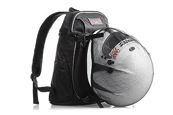 Badass moto Gear – Mochila de moto casco soporte, 7 compartimentos, organizador – Acolchado