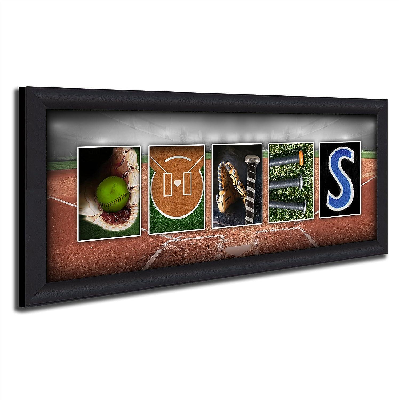 Amazon.com: Nombre personalizado Softball Arte: Home & Kitchen