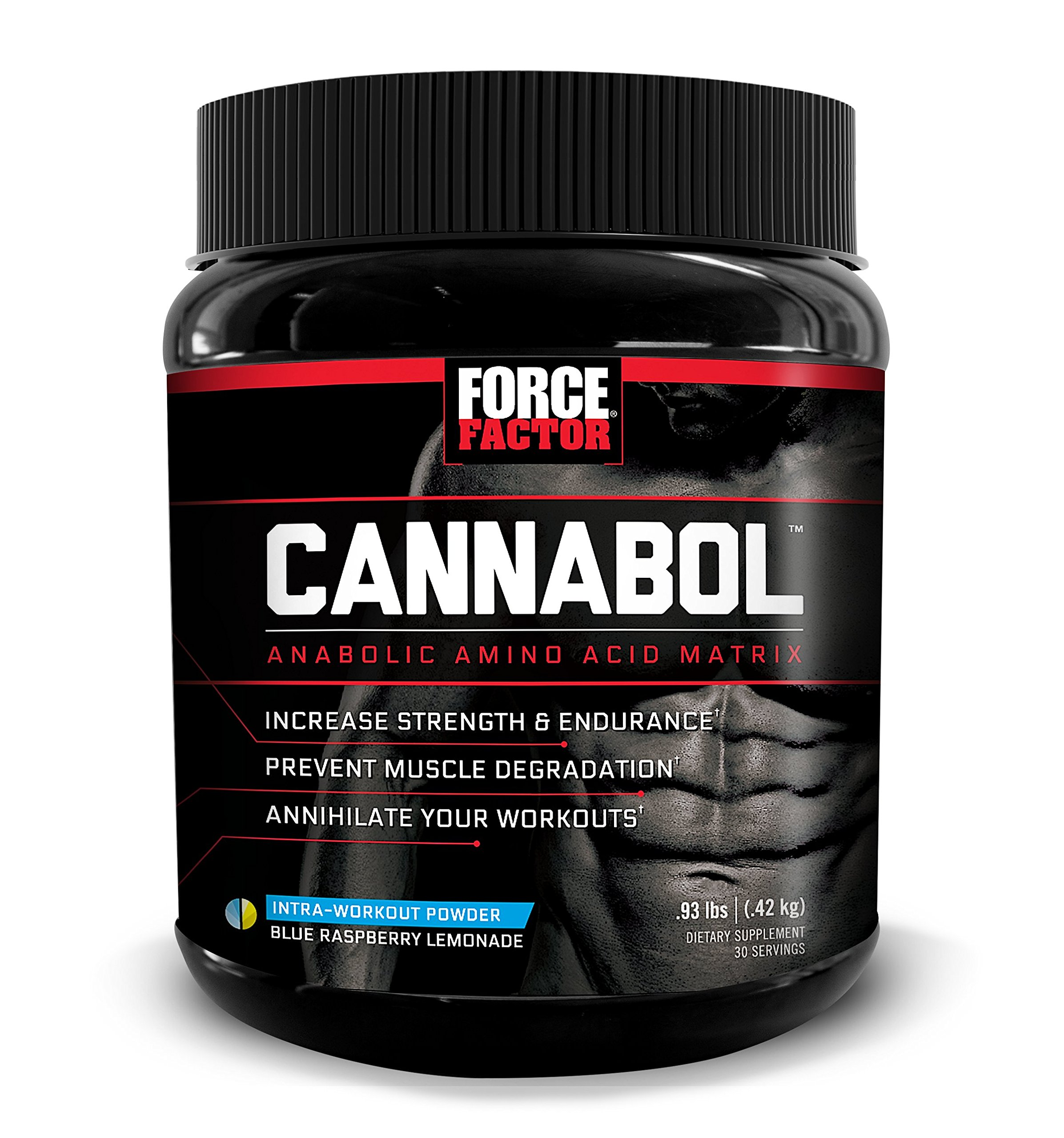 Cannabol BCAA Powder, 6:1:1 BCAA Amino Acid Intra-Workout for Muscle Growth, Strength, and Endurance, Refreshing Flavors, Force Factor, 30 Servings