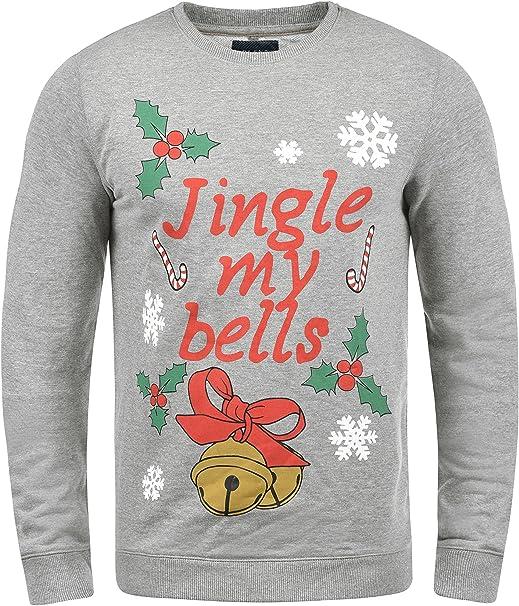 Blend Deer Herren Weihnachtspullover Winter Pullover Strickpullover Weihnachtspulli mit Rundhals-Ausschnitt