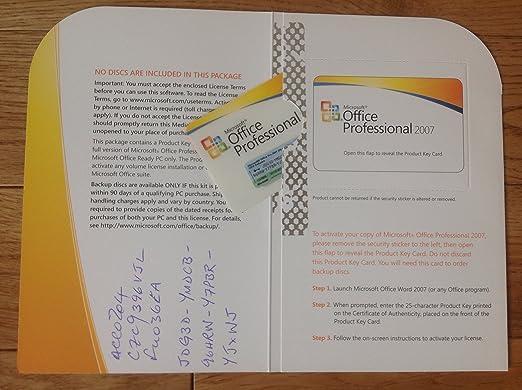 Microsoft Office Professional 2007 - Licence - 1 PC - MLK - Win - Europe