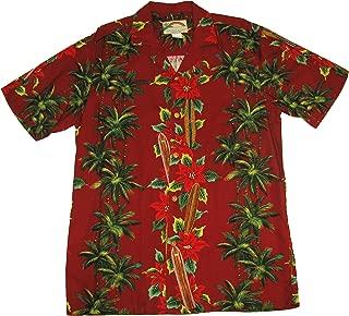 product image for Surfboard Christmas Men's Hawaiian Aloha Rayon Shirt