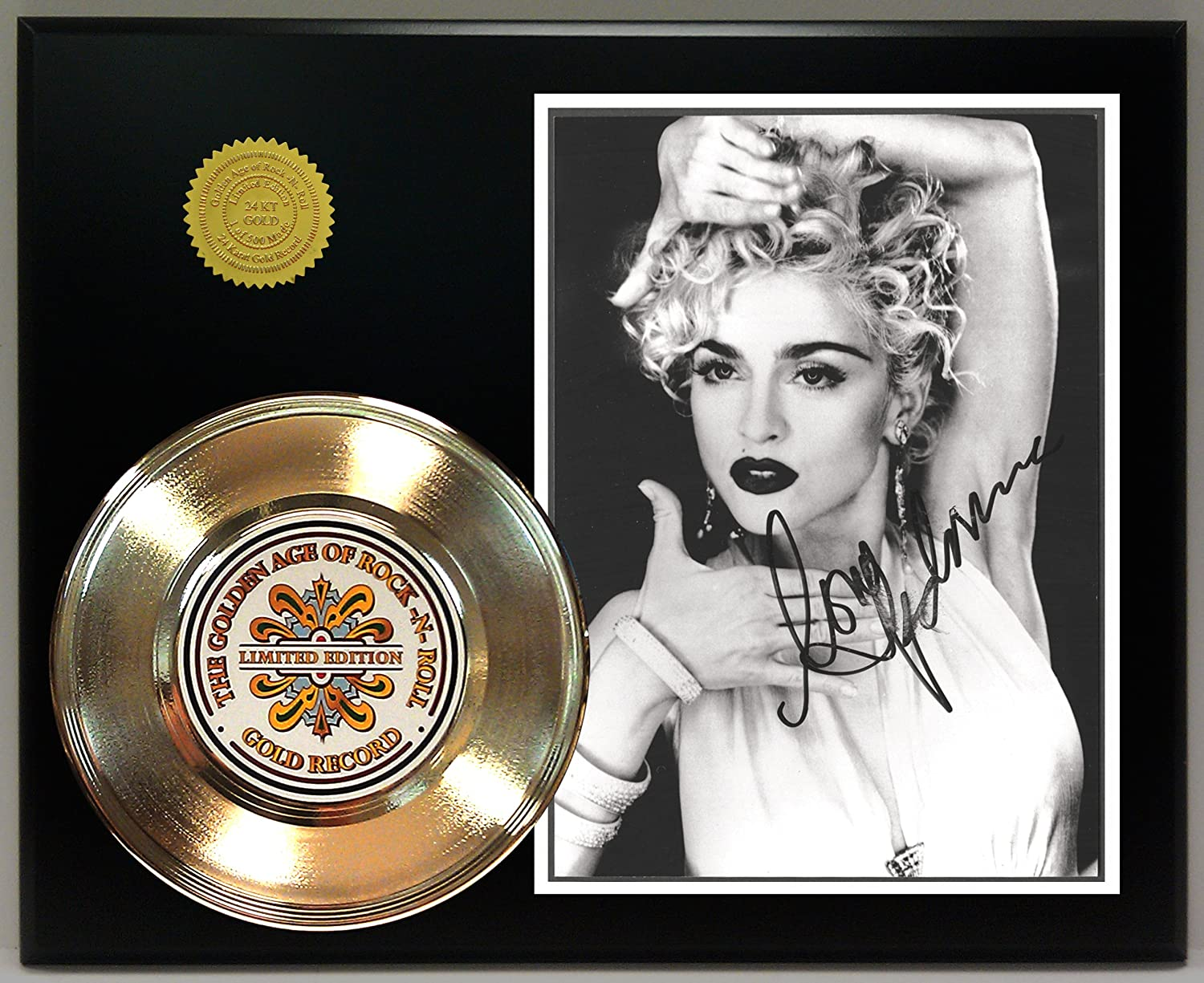 Madonna Gold Record Signature Series LTD Edition Display Gold Record Outlet