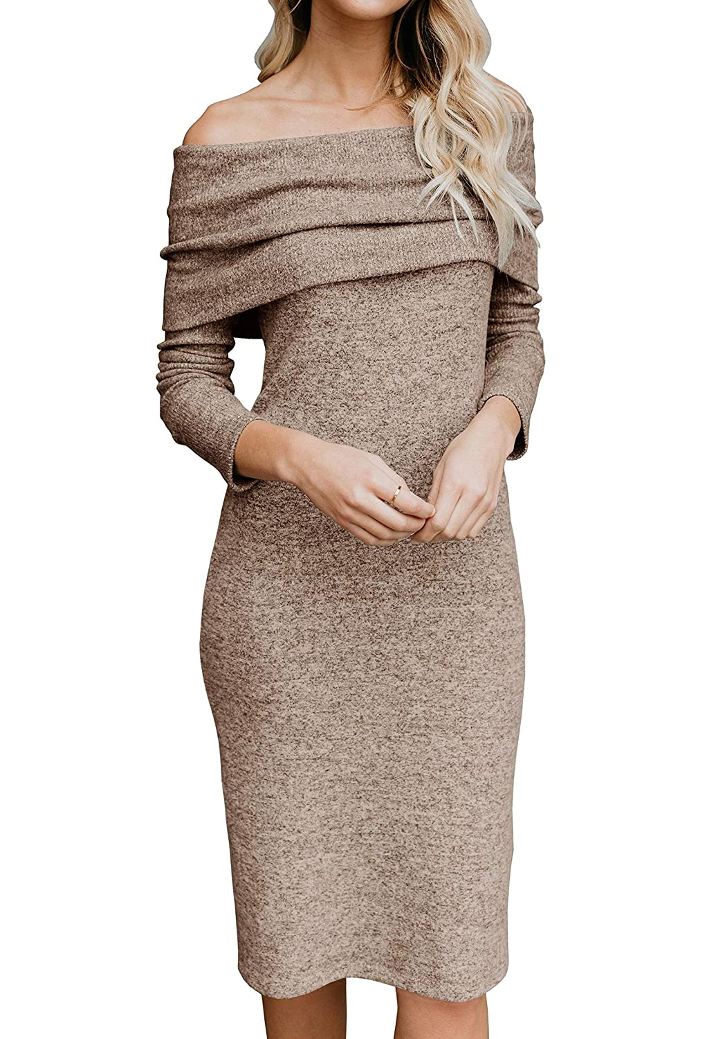 bb04ca7694e Top 10 wholesale Grey Midi Sweater Dress - Chinabrands.com