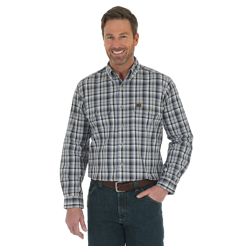 7073e73c98 Amazon.com  Wrangler Men s Burgundy Riggs Workwear Foreman Work Shirt -  3W616bg  Clothing