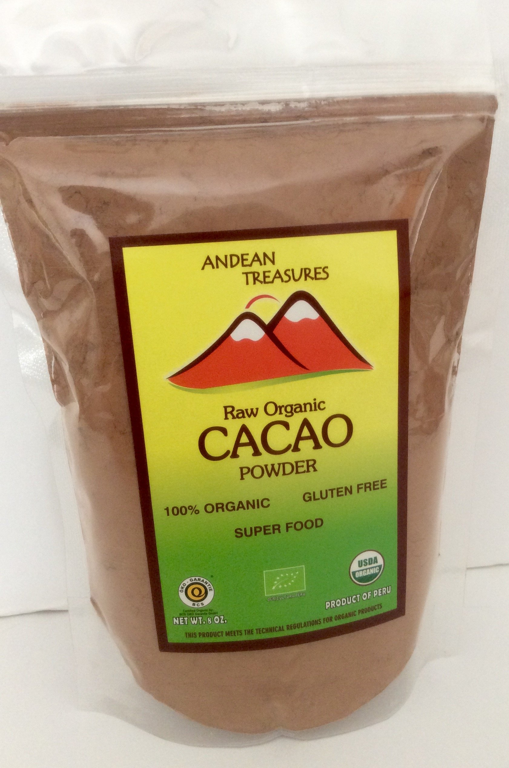 RAW ORGANIC CACAO POWDER 1 LB (16 OZ) KOSHER CERTIFIED