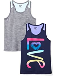 Spotted Zebra Girls 2-Pack Active Tank Tops