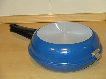 Menax - Sarten Doble Volteadora de Tortillas - Ø 25 cm - Revestimiento Antiadherente - Aluminio: Amazon.es: Hogar