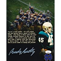 $29 » Rudy Ruettiger Notre Dame Signed/Autographed 8x10 Photo JSA 156077