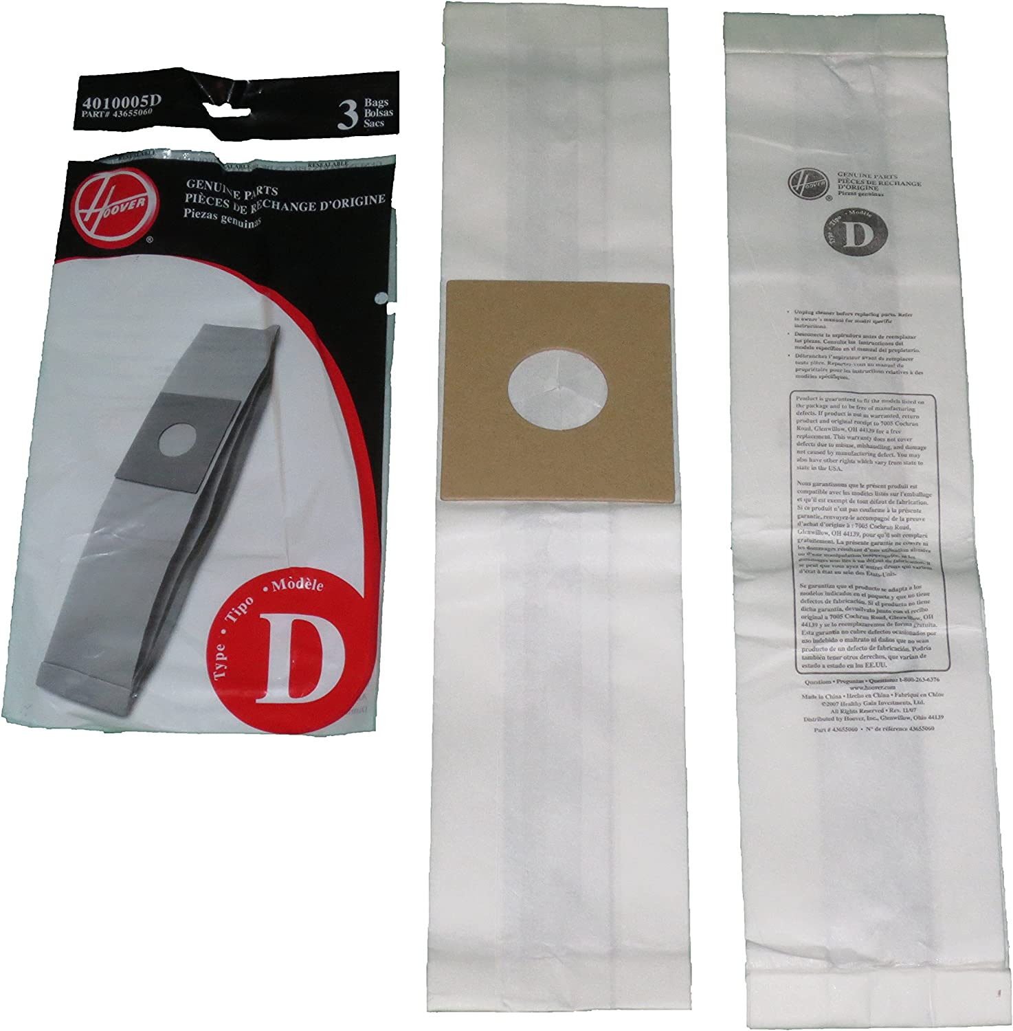 Hoover Type D Vac Cleaner Bag