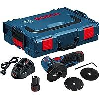 Bosch Professional 06019F2002 Meuleuse Angulaire sans-fil GWS 12V-76 2x2,5 Ah L-BOXX, 10.8 V, Bleu